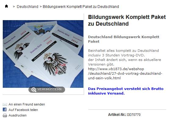 Bildungswerk Komplettpaket zu Deutschland und seinem Volk